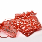 Organza Bags Wholesale & Grip Seal Bags Wholesale > Organza Bags with hearts wholesale