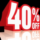 WAREHOUSE CLEARANCE > 40% discount
