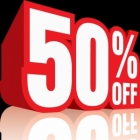 WAREHOUSE CLEARANCE > 50% discount