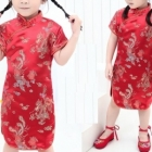 Clothing Wholesale - Import & Export > Wholesale Chinese Children Dress - Qipao Brocade