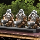 Buddha Statues Wholesale/Import & Export > Buddha Hear, See, Silence
