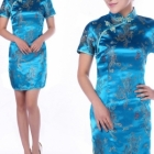 Clothing Wholesale - Import & Export > Short Chinese Dress -Qipao ( short sleeve) Wholesale