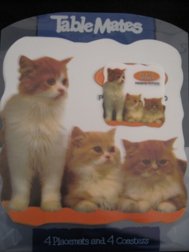 Placemats with cup holders Cats