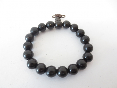 Mala prayer bead bracelet black Sandalwood 1.2cm