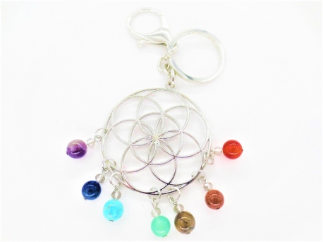Seed of Life keychain stainless steel