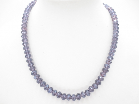Crystal necklace thin purple