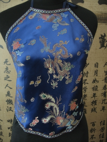 Chinese top with dragon (dark blue)