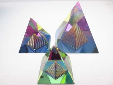 Crystal prism pyramide shape small