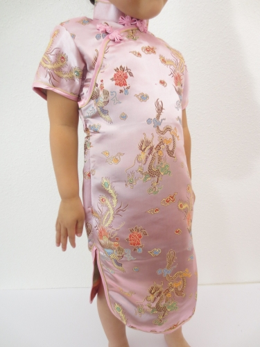 Girls Dress dragon phoenix pink size 20