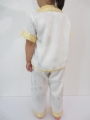 Kid suit with dragon white