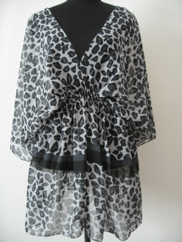 Blouse with zebra print III