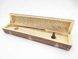 Incense Box Antique Wood Buddha (2 pcs)