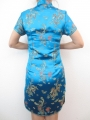 Short Dress Dragon / Phoenix turquoise size 34