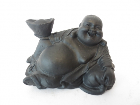 Wholesale - Black Buddha laying small