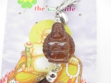 Happy buddha keychain brown