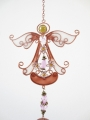 Angel with flowers windchime brown