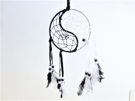 11cm round yin yang Dreamcatchers (6pc)