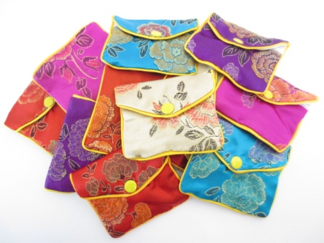 Chinese small pouches set of 12 mixed