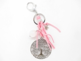 Tree of Life keychain with rosequartz ball