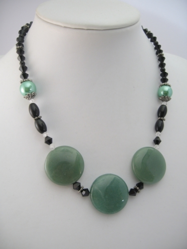 Jade Necklace with 3 amulets