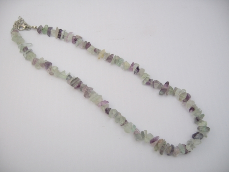 Thin Mineral Necklace Amethyst & Aventurin
