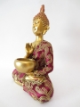 Thai Buddha with bowl gold/red