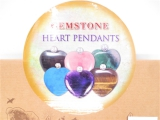 Gemstone Heart Pendants Necklace With Diamand - wholesale
