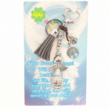 Angel 'Luck' Keychain Wholesale - Gray