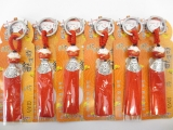 Lucky cat keyhanger set of 6 red