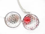 Angel Caller flower of life red