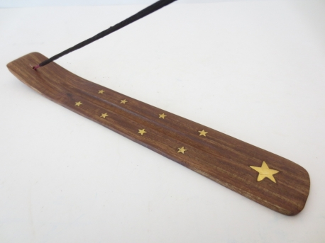 Incense holder traditional wooden plate Star