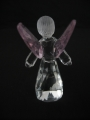 Crystal statue angel with pink wings