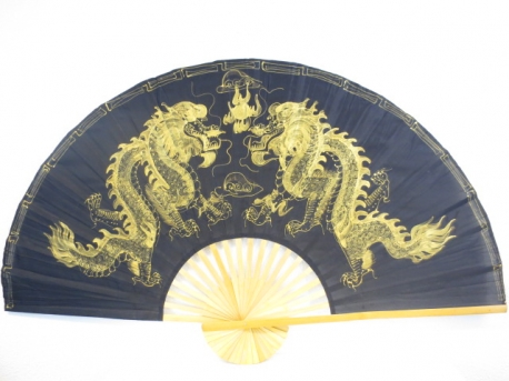 Thai fan dragon black/gold (large)