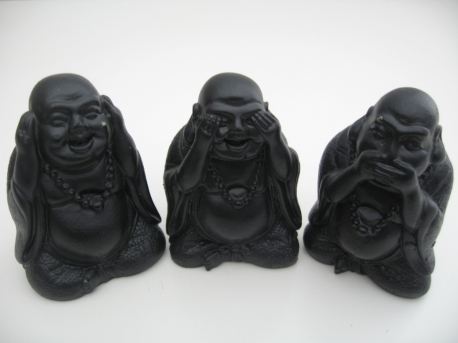 Wholesale - Black Buddha hear, see and silence