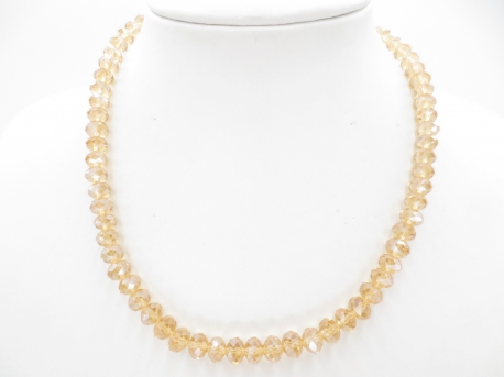 Crystal necklace thin yellow