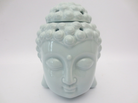 Light blue Buddha head oilburner luxury