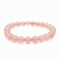 Wholesale - 8mm gemstone bracelace Strawberry Quartz with gift-box