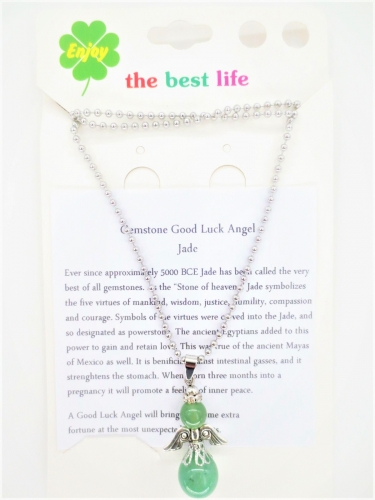 Angel necklace - jade