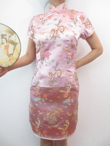 Short Dress Dragon / Phoenix pink size 36