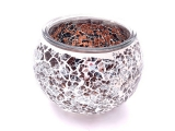 Wholesale - Mosaic tealight holder brown