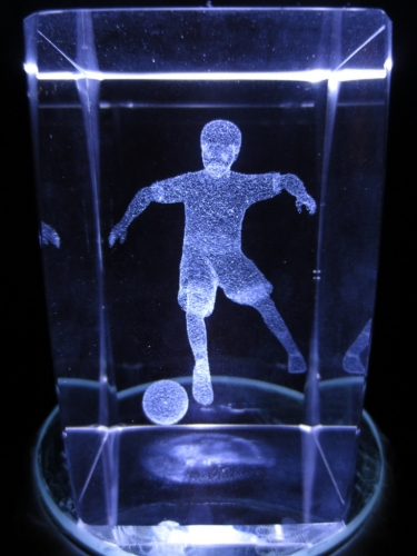 3D Football player and ball