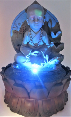 Shao-Lin Monk Fountain with LED lighting