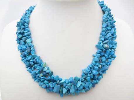 Wide Mineral Necklace Turquoise