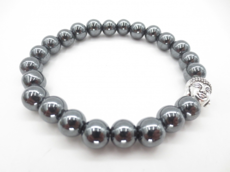 8mm bracelet hematite with Buddha without box