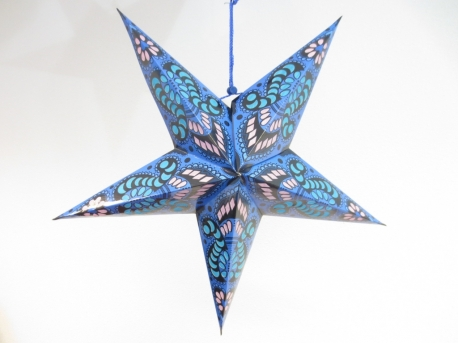 Star Lantern blue with decoration