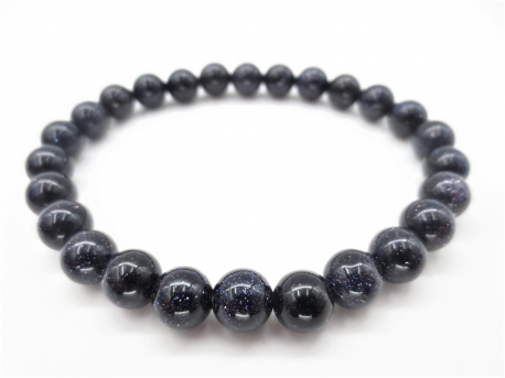 0,8cm gemstone bracelace Blue Goldstone