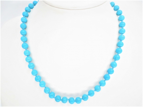 0,8cm stone beads necklace turquoise