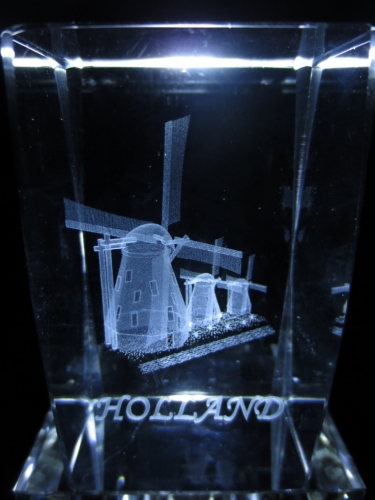 3D laserblok holland with 3 windmills