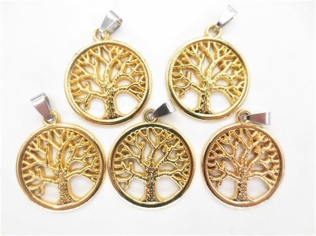 Tree of Life pendant set of 5 Gold