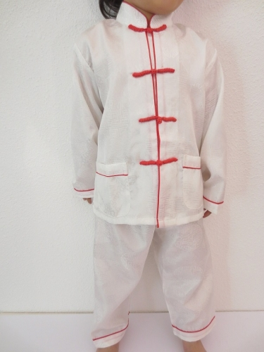 Kids kung fu suit white size 4